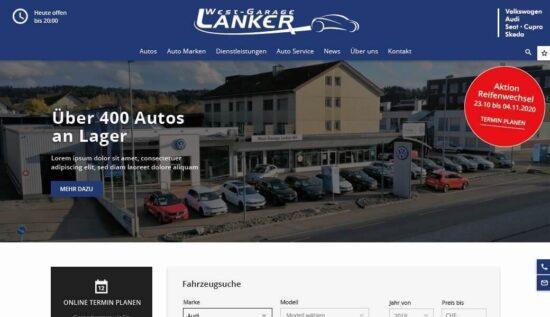 Neue Homepage der Westgarage Lanker AG - Westgarage Lanker AG 3