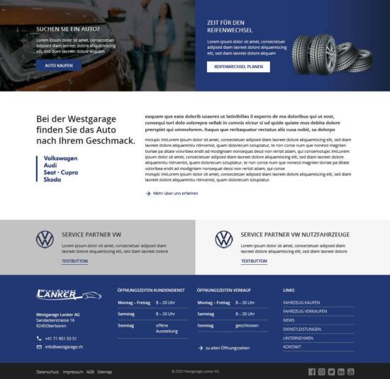 Neue Homepage der Westgarage Lanker AG - Westgarage Lanker AG