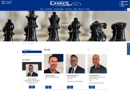 Neue Homepage der Westgarage Lanker AG - Westgarage Lanker AG 4