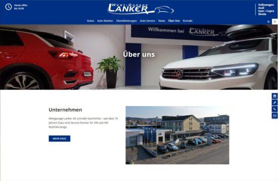 Neue Homepage der Westgarage Lanker AG - Westgarage Lanker AG 5