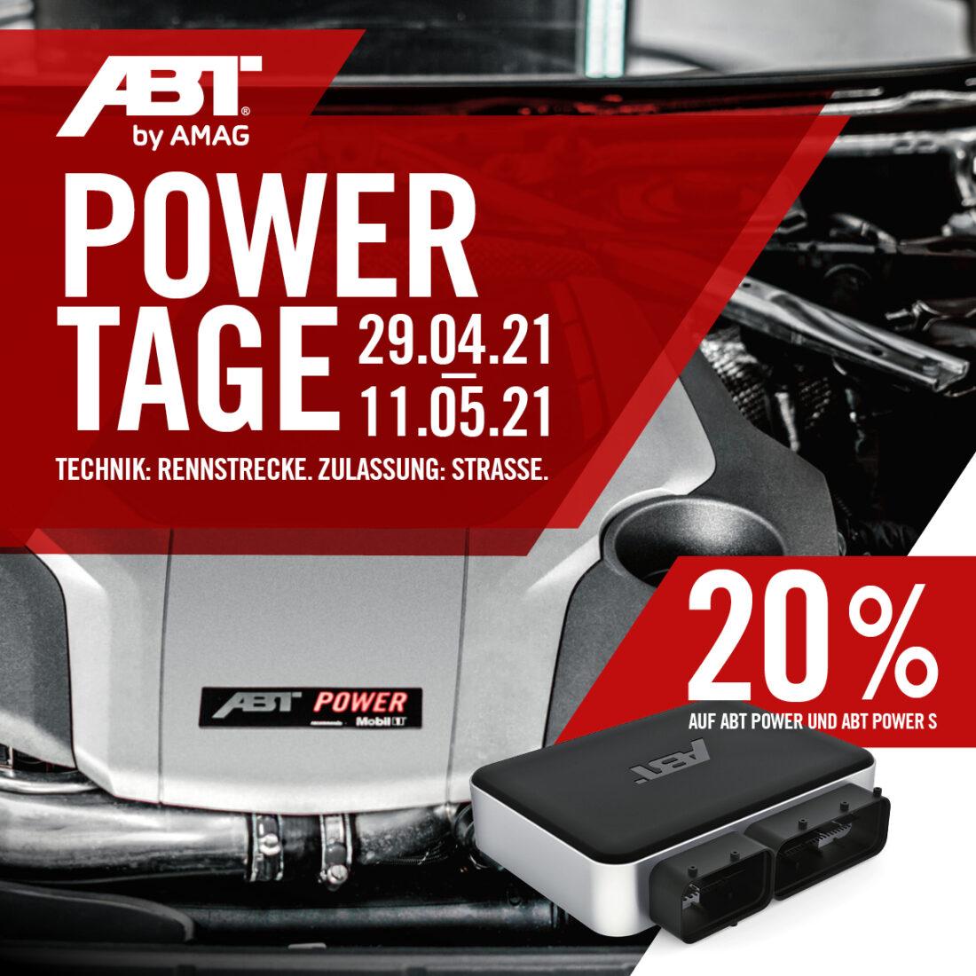 Die ABT POWER TAGE 20% weniger zahlen, einfach mehr bekommen - Westgarage Lanker AG