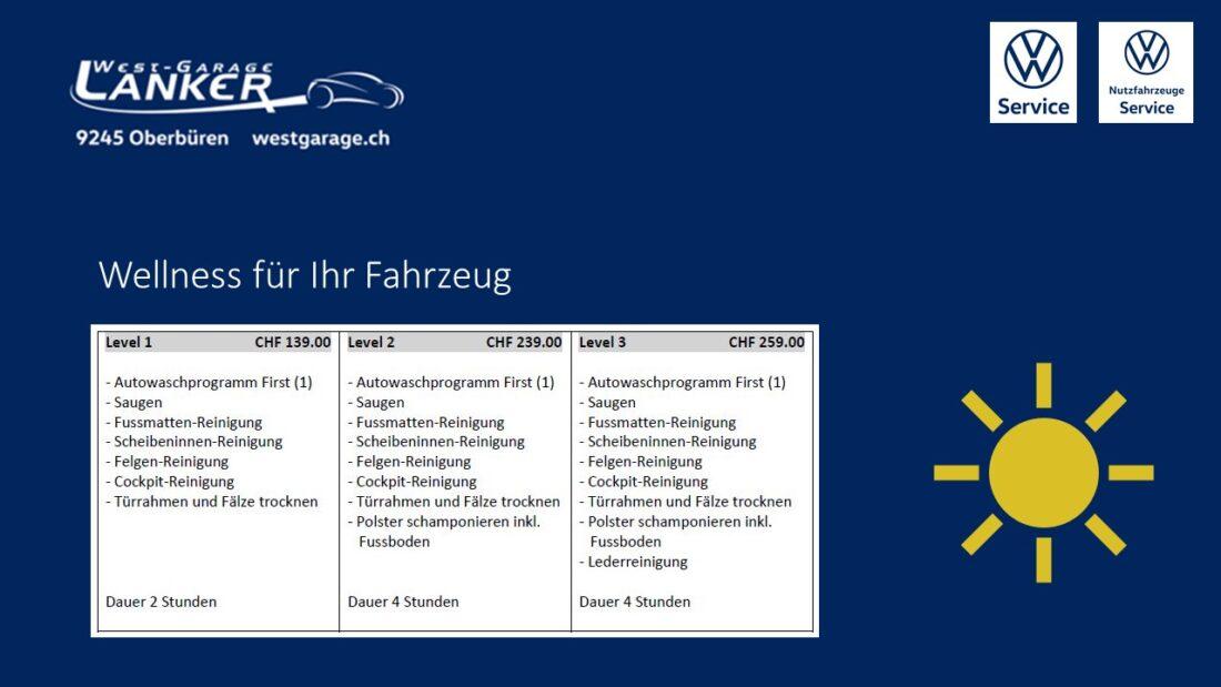 Wellness für Ihr Fahrzeug - Westgarage Lanker AG 1